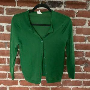 J Crew soft 100% cashmere sweater green S